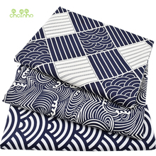 3pcs/lot Printed Twill Cotton Fabric For DIY Patchwork Quilting Sewing Curtain Tablecloth Sleepwear/Japanese Series Material(China)