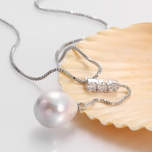 Pearl Necklaces White Gold Elegant Lady Women Jewelry Long silk Nice charm n011 gift box free 2015 New Fashion Genuine Shell