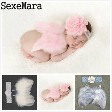 Newborn Photography Props Crochet Knit Costume Cute Angel Wing Photo Baby Girls Clothes Outfits Fotografia Accessories Pink Red