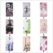 10pcs/lot New Cool Butterfly &Tower&Cranial Painted Cartoon Magnetic Flip Wallet PU Leather Cover Case For One Plus Five oneplus