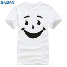2017 Promotion Rushed No Tee4u Cool T Shirts Designs Best Selling Broadcloth Kool Man Aid Face O-neck Short-sleeve Mens Shirt(China)