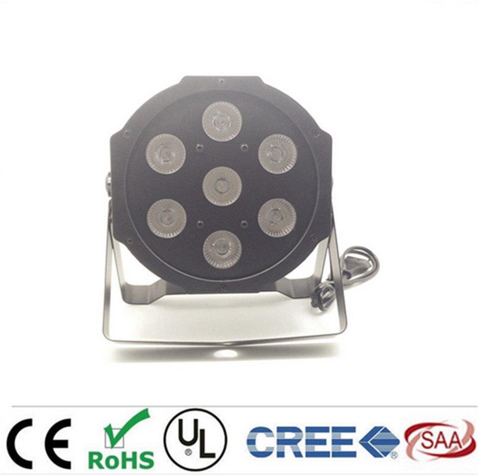 LED Par 7x12W RGBW 4IN1 LED Luxury DMX 8 Channels Led Flat Par Lights<br>