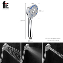 fiE ABS Shower Heads Round Hand Shower Head Handheld Sprayer Bathroom Long Stainless Steel Shower Hose