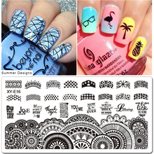 1pcs Nail Art Stamping Plates Set Cartoon Lace Flowers Christmas Design Polish Stamp New Arrival Templates Manicure SAXYE01-16
