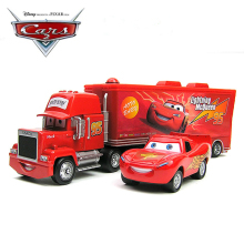 Disney Pixar Cars 2pcs Lightning McQueen Uncle Truck Jimmy The King 1:55 Alloy Toy Car Model Toys Gift For Kids