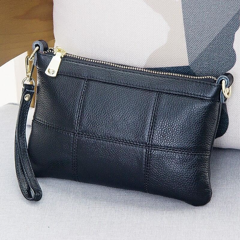 2017 new tide simple genuine leather female hand bag shoulder bag mini cow leather mobile phone bag #132<br>