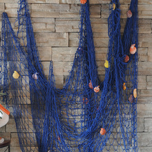 2M x 1.5M Modern style Home Decoration Nautical Decorative Fishing Net Seaside Beach Shell Party Door Wall Decoration