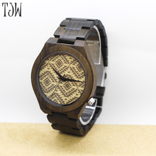 TJW 2017 new design all wood hand made wooden watches for women(China)