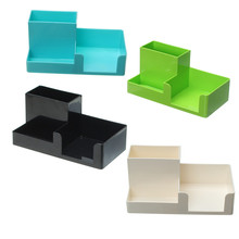 Kicute Excellent Candy Color Pen Holder Container Desk Organizer Pen Stand Plastic Stationery Storage Box Office School Supplies(China)