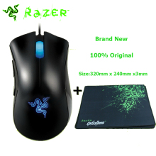 Razer Deathadder Mouse 3500DPI Gaming Mouse + Razer Goliathus Gaming Mouse Pad 320mmx240mmx3mm Without Package Lowest Price