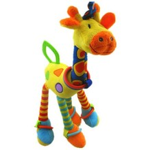 candice guo! new arrival cute colorful giraffe baby toy bad hang multipurpose placate toy with BB instrument teether 1pc(China)
