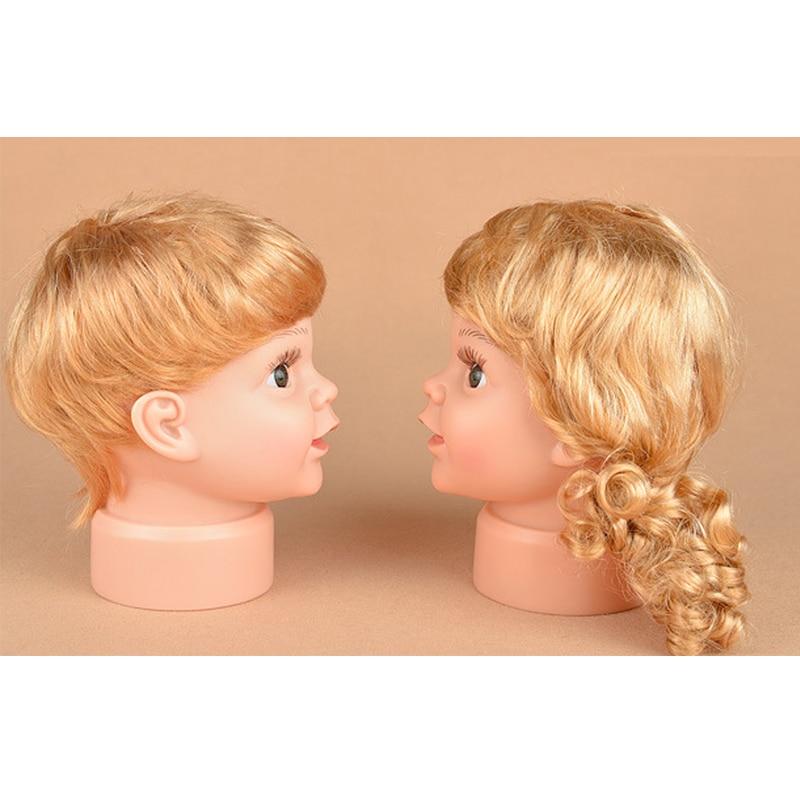 Children Mannequin Baby Dolls Head With Wig Shop Window Dolls Head For Cap Glasses Display (1)