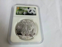 2010ys silver panda coin 1oz with capsule pcs grade NGC collection box for collection gift