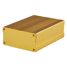 Aluminum Enclosure Box Gold Circuit Board Case Mayitr For Electronic Project Amplifier 100x76x35mm