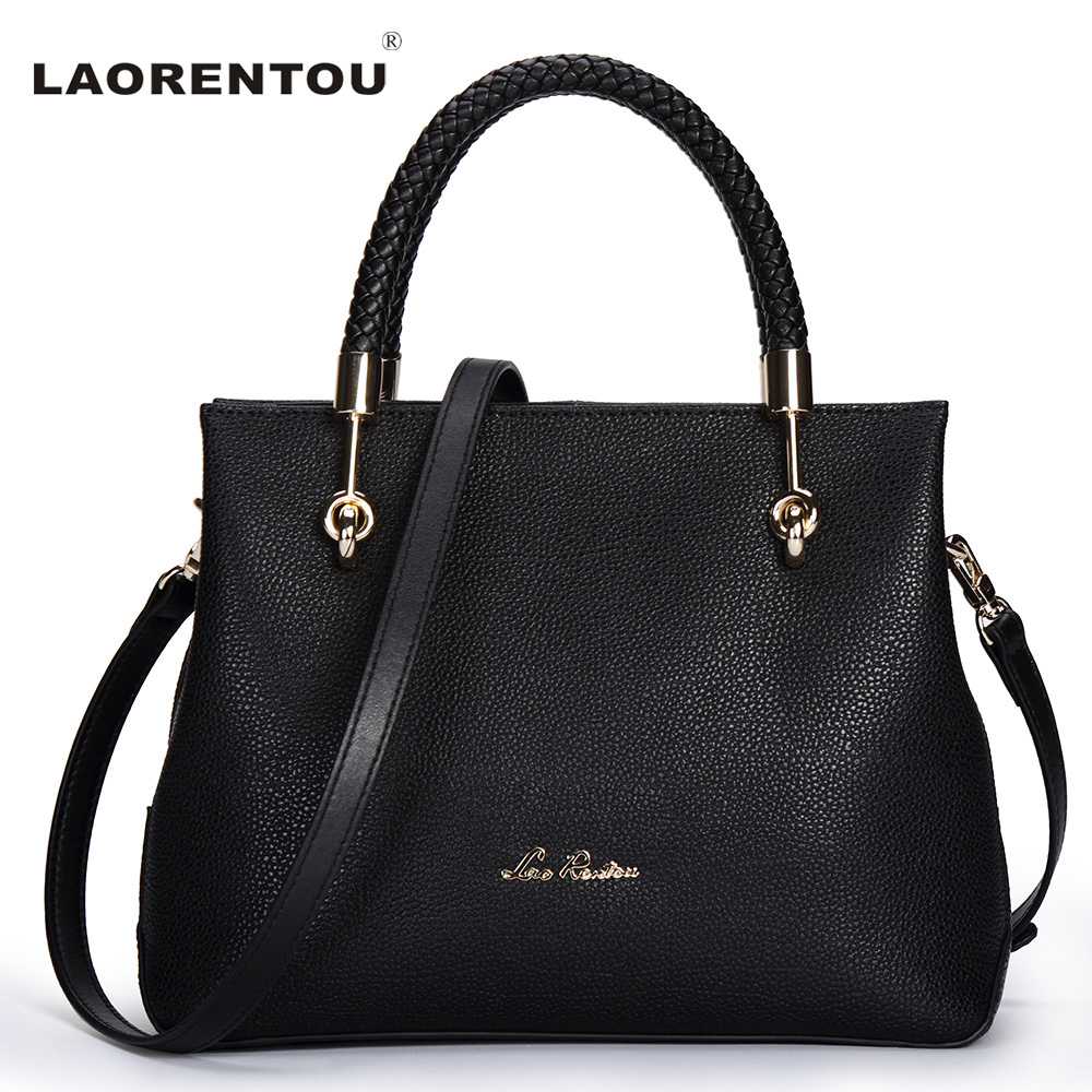 LAORENTOU Clearance Cow Leather Shoulder Bag For Women Casual Luxury Solid Handbag Exclusive Designer Brand Lady Leather Tote(China (Mainland))