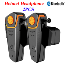 2 pcs Helmet Headset Waterproof Motorcycle Wireless Bluetooth Helmet Intercom Interphone Headset for Moto Rider with FM Radio