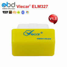 Viecar ELM327 V1.5 Bluetooth Code Scanner VC001-A ELM 327 OBD2 Diagnostic Tool For Android Torque Car Code Scanner Free Shipping
