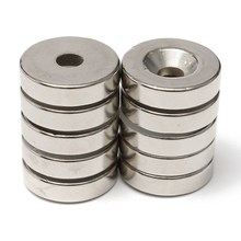 10pcs 20x5mm Hole 5mm N50 Strong Ring Magnet D Countersunk Rare Earth Neodymium Magnets Permanent magnet