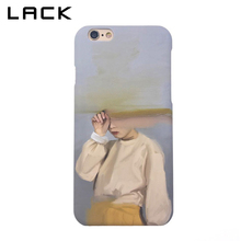 LACK Fashion Hard PC Frosted Phone Case For iphone 6 Case Abstract Art Girl Sand Painting Back Cover For iphone 6S 6 Plus Cases(China)