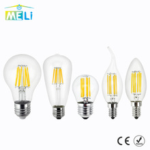 Antique Retro Vintage LED Edison Bulb E27 LED Bulb E14 Filament Light 220V Glass Bulb Lamp 4W 8W 12W 16W Candle Light Lamp