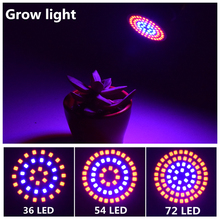 AIFENG 8w 6w 4w 72led 54led 36led 220v 230v 240v  E27 GU10 full spectrum led grow lights flowering ce  plant lamps for plants