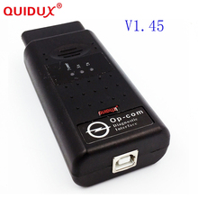 QUIDUX High quality Newly 2016 OBD2 OP-COM 1.45 Version Op Com Opcom For Opel Scan Tool(China)