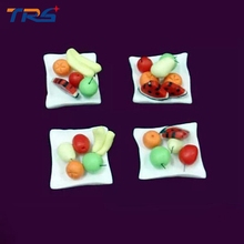 Teraysun 1:30 scale mini ceramic Vegetable dishes Vegetable miniature Fruit bowl compote model for ho train design layout(China)