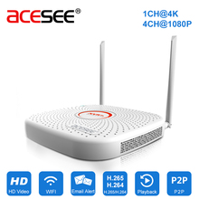 Acesee 9CH H.265 Wifi Mini NVR Onvif NVR Wifi Network Video Recorder HDMI Digital Video Recorder for CCTV 4K IP Camera P2P 1THDD(China)