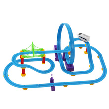 Hot Sale Rail Car Track Racer Kids Toys Racing Car Electric Track Battery Powered Rail Car DIY Toy Set for Children
