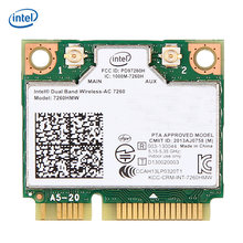 Intel Dual Band Беспроводной 7260 AC 7260 7260HMW 7260AC 2,4 г/5 ГГц 802.11ac MINI PCI-E 2x2 wi-Fi карты Bluetooth 4,0(China)