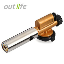 Outlife Portable Copper Gas Burners Torch Flame Gun Maker Lighter Electronic Ignition for Welding Camping Picnic BBQ(China)
