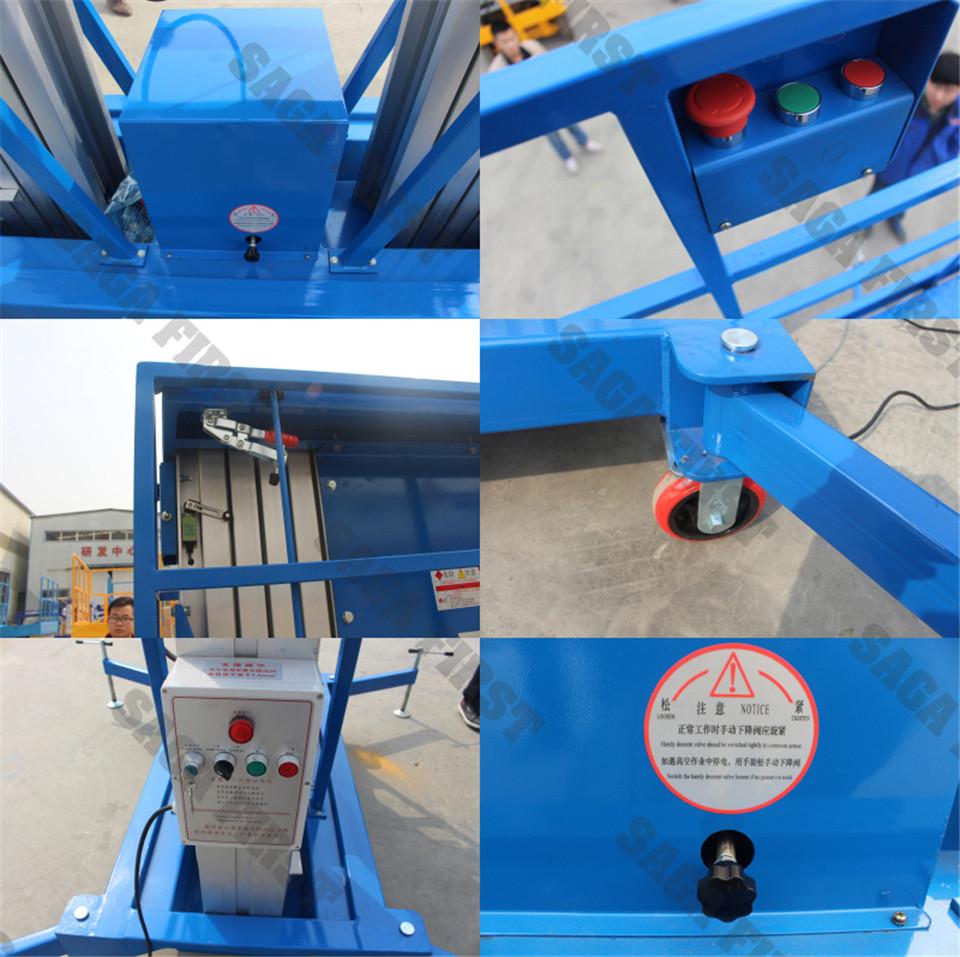 dual mast aerial work platform 250kg