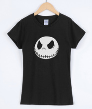 2018 T-shirt For Women Summer Short Sleeve Cotton Shirt Skull Pattern Hip Hop Rock Style Streetwear Power Female T-shirt Top(China)