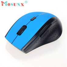 Hot-sale MOSUNX Wireless Game Mouse Gifts Wholesale 2.4GHz Wireless Mouse USB Optical Scroll Mouse For Tablet Laptop Computer