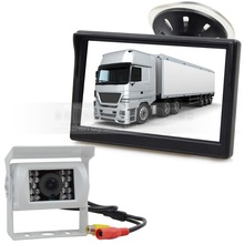 5 Inch Video Car Monitor IR Car Camera Rear View Camera Security System Parking Reversing System Kit for Car Van Truck Bus
