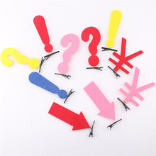 New 5PCS Funny Arrow Symbol Felt Hair Clips Hairpins Hair Accessories 8 Styles For Women Girls Hot Sale(China)