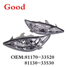CAPQX 2PCS Front Headlamp Headlight Head Light Lamp 81170-33520 81130-33530 For CAMRY ACV3#,MCV30 2003 2004 2005 2006