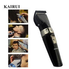 KAIRUI Full Waterproof Rechargeable Hair Clipper Electric Cordless Hair Trimmer Trimer Beard Razor Shaver for Men&Baby Haircut(China)