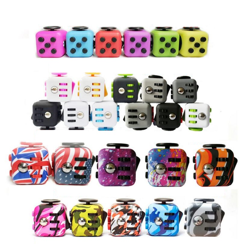100pcs/set Fidget Cube Toys Multicolor 12 Colors Choose Puzzles & Magic Anti-Stress Cube 3.3cm Fidget Cube Spinner Wholesale
