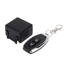 433MHZ Wireless Learning Code Remote Control 12V Square Single Channel + Metal Switch Two Keys Switch Control