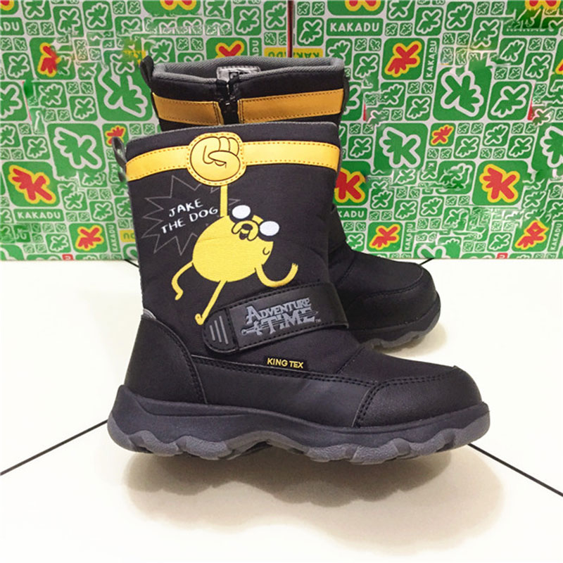 Mioigee 2017 New Fashion Printed Cartoon Snow Boots Warm Anti-Skid Children Boots Outdoor Boy Boots Rubber Boots kids boy shoes<br>