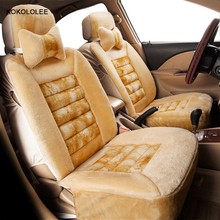 KOKOLOLEE faux fur car seat cover for ssang yong citroen c4 vw golf 4 toyota land kia sportage honda kia Automobiles Seat Covers