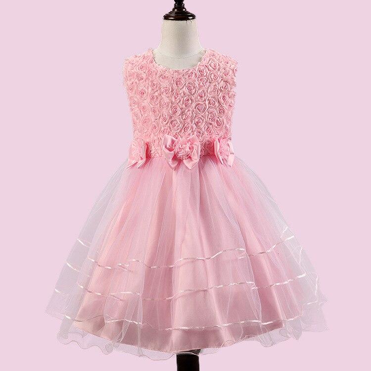 2017 New summer brand kids party dresses children flower wedding Tutu Princess dress Girls dress 6 7 8 9 10 11 12 Years ol<br><br>Aliexpress