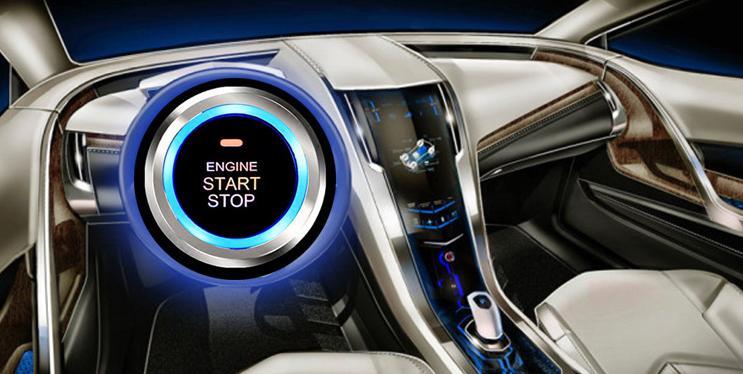 Car Engine Push Start Stop Button