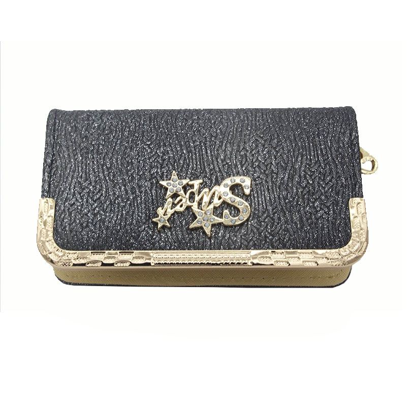 003 women wallets 16.5*10*4.5cm fashion Practical Striped Embroidery wallet phone package metal lace multifunction wallet<br><br>Aliexpress