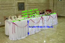Luxury Wedding suppiles ice silk table skirt wedding banquet table decoration(can customize color and size as you want)