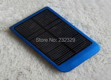 Portable solar charger with 2600mah battery build inside, mobile outdoor power supply.(China)