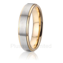 anel masculino fashion titanium jewelry finger ring custom pretty promise wedding band(China)