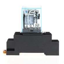 8 Pin MY2NJ Relay 24V DC Small Relay 5A DPDT Coil Mini East Electromagnetic Relay With Base Socket