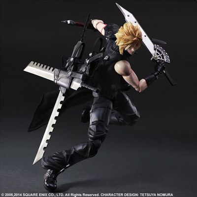 PLAY ARTS 25cm Final Fantasy VII Cloud Strife Action Figure Model Toys<br>